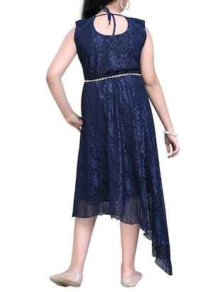 blue net party gown - 14906019 - Standard Image - 3