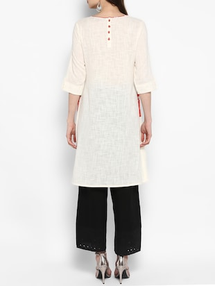 A-line kurta with patch pocket - 14906933 - Standard Image - 3