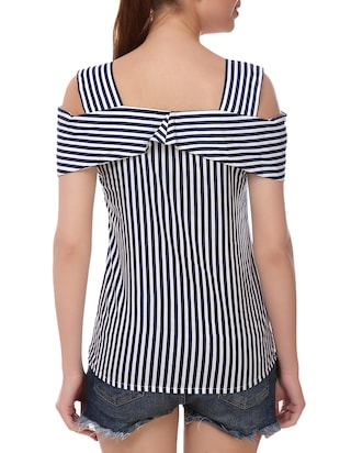 blue striped top - 14907884 - Standard Image - 3
