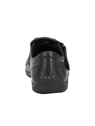 black Leather slip on sandal - 14910842 - Standard Image - 3