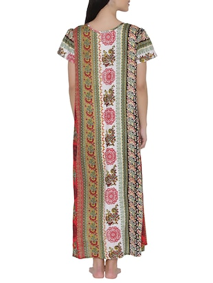multi colored nightwear gown - 14911422 - Standard Image - 3