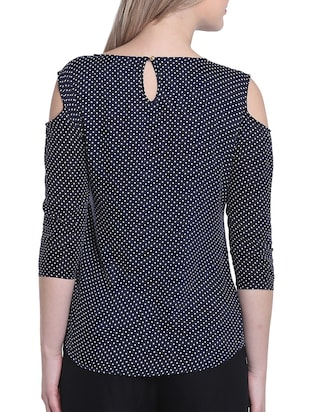 dark blue polka dotted top - 14912495 - Standard Image - 3