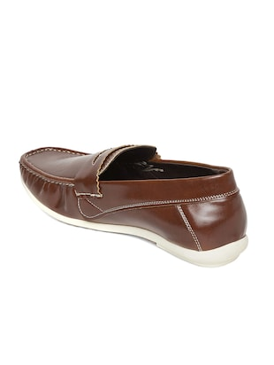 brown leatherette slip on loafer - 14912596 - Standard Image - 3