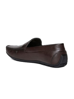 brown leatherette office wear loafer - 14912939 - Standard Image - 3