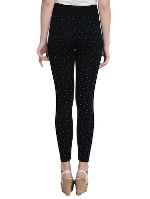 black printed cotton jegging - 14915620 - Standard Image - 3
