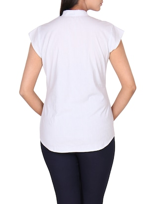 white striped cotton top - 14918618 - Standard Image - 3
