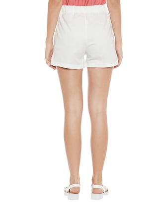 solid white cotton shorts - 14921411 - Standard Image - 3