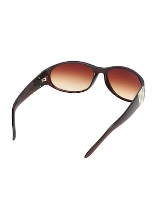 Zyaden Brown Oval sunglasses for women 417 - 14923959 - Standard Image - 3
