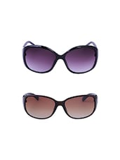 Amour-Propre Multicolor UV Protected Sunglass For Unisex- Pack Of 2 - By