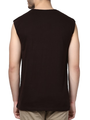 brown cotton t-shirt - 14926016 - Standard Image - 3