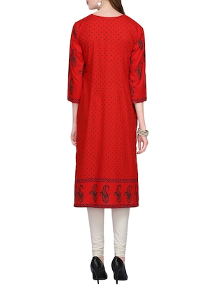 KAANCHIE NANGGIA cotton block printed kurta - 14926481 - Standard Image - 3