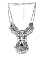 Silver Metal Tribal Necklace - By