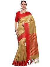 beige art silk bhagalpuri saree -  online shopping for Sarees
