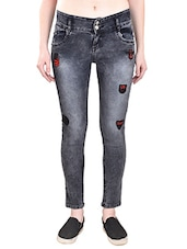 grey denim jeans -  online shopping for Jeans