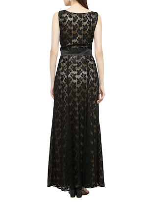 black laced gown dress - 14966390 - Standard Image - 3