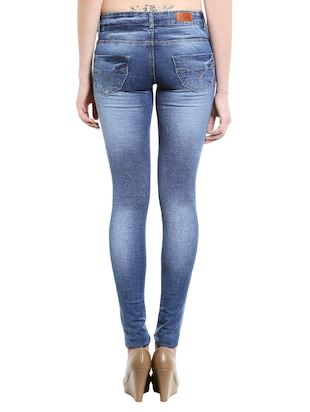 blue denim stone wash jeans - 14966650 - Standard Image - 3