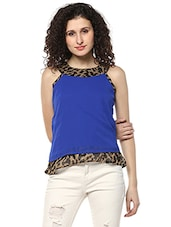 blue printed layered top -  online shopping for Tops