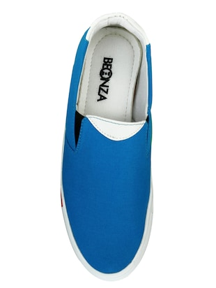 blue Canvas casual slipon - 14996697 - Standard Image - 3
