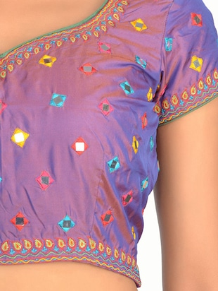 Fuchsia Designs purple embroidered blouse - 14999480 - Standard Image - 3