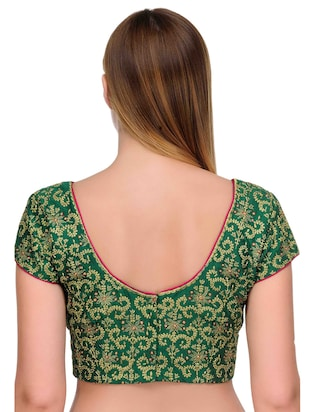 Fuchsia Designs green embroidered blouse - 14999487 - Standard Image - 3