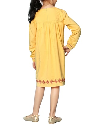 yellow cotton frock - 15000007 - Standard Image - 3