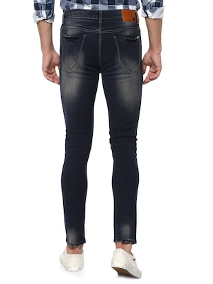 navy blue light washed jeans - 15000630 - Standard Image - 3