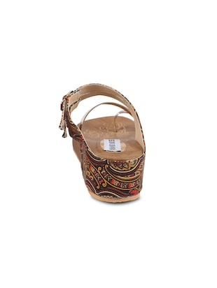ANAND ARCHIES Brown Color Artificial Leather Wedges For Girl's & Women's ( AA-425-BROWN-36 ) - 15004004 - Standard Image - 3