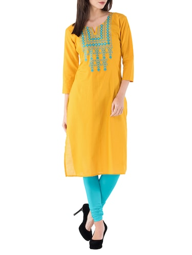 ed0c8827951 Yellow Kurta- Buy Long Kurtis for Women