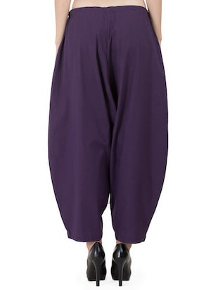 GRASS by Gitika Goyal purple cotton wide leg trouser - 15008111 - Standard Image - 3