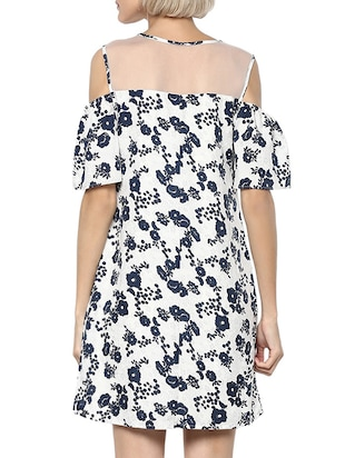 white floral a-line dress - 15011410 - Standard Image - 3