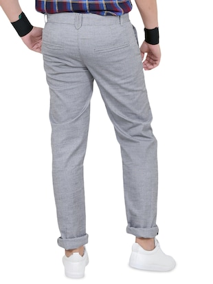 grey cotton chinos - 15011514 - Standard Image - 3