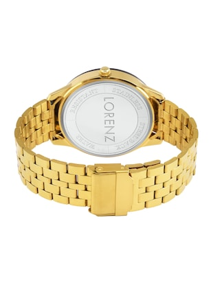 Lorenz MK-1070A Original Day & Date Edition Gold Men's Analog watch - 15013152 - Standard Image - 3