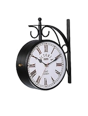 Victoria Design Metal Double Side Vintage Wall Clock Railway Clock -  online shopping for Wall Clocks