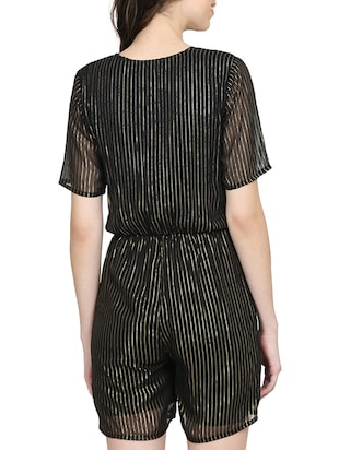 black striped romper jumpsuit - 15015530 - Standard Image - 3