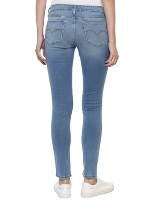 light blue embellished denim jeans - 15015922 - Standard Image - 3