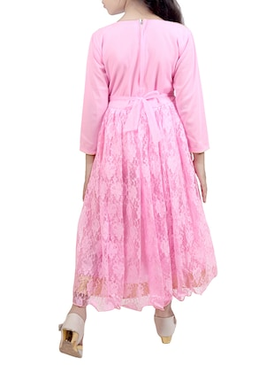 pink net party gown - 15015997 - Standard Image - 3