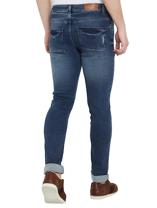 blue denim washed jeans - 15018993 - Standard Image - 3