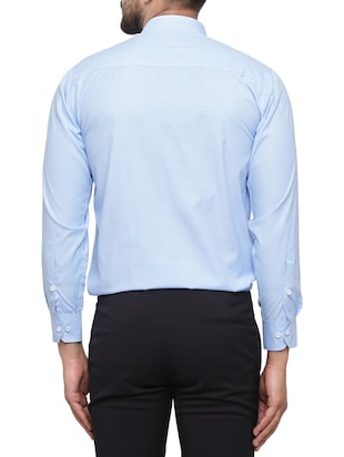 blue cotton formal shirt - 15019705 - Standard Image - 3