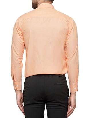 orange cotton formal shirt - 15019707 - Standard Image - 3