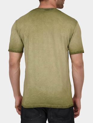 green cotton washed tshirt - 15021011 - Standard Image - 3