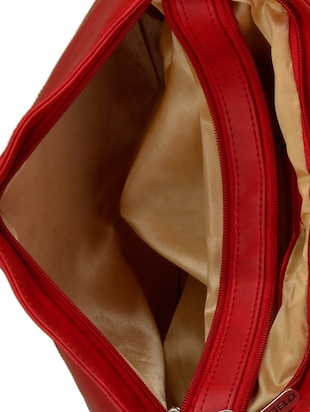 red leatherette  regular sling bag - 15021084 - Standard Image - 3