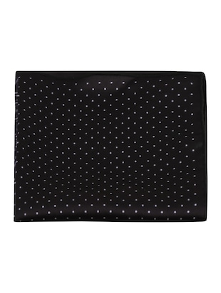 black polyester pocketsquare - 15024025 - Standard Image - 6