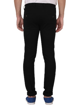 black cotton blend chinos - 15024914 - Standard Image - 3