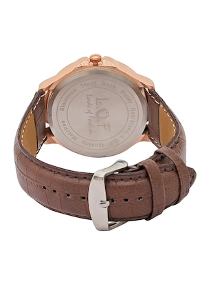 LOF Round Dial Leather Strap Men's Multi function Analog watch - LW2006 - 15025106 - Standard Image - 3