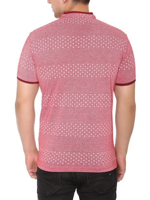 pink cotton all over print tshirt - 15025182 - Standard Image - 3