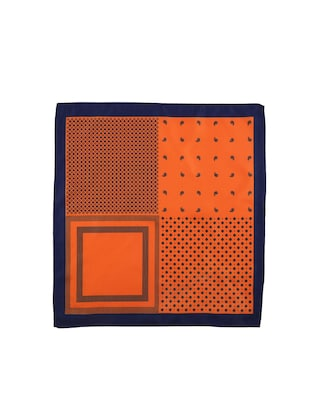 orange polyester pocketsquare - 15026009 - Standard Image - 3