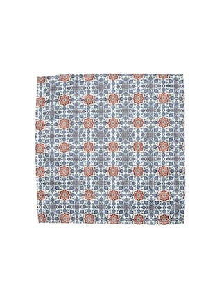 blue polyester pocketsquare - 15026010 - Standard Image - 3