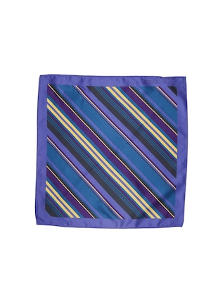 blue polyester pocketsquare - 15026017 - Standard Image - 3
