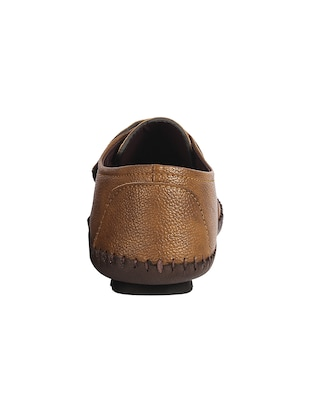 brown Leatherette slip on sandal - 15027576 - Standard Image - 3