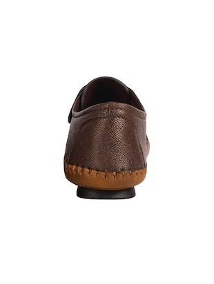 brown Leatherette slip on sandal - 15027577 - Standard Image - 3
